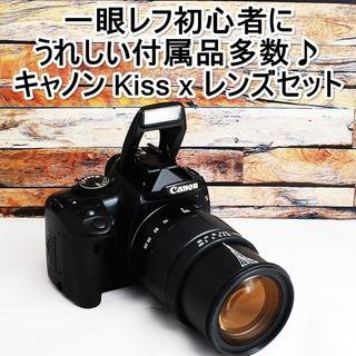 Canon - ★一眼レフ入門機におススメ♪★キャノン kiss X レンズセット