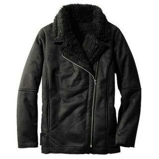 GU - 半額中★新品GU軽くて温かいムートンタッチライダースジャケット黒ブラックL