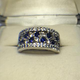 サファイア&CZダイヤモンドSILVERリング(リング(指輪))