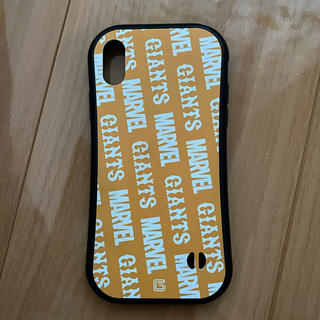 ヨミウリジャイアンツ(読売ジャイアンツ)のiPhone X/XS用 ケース MARVEL ジャイアンツ コラボ(iPhoneケース)