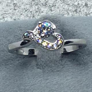 SILVER 925 CZダイヤ ハートリング  (リング(指輪))
