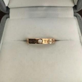 ティファニー(Tiffany & Co.)のTIFFANY&Co  ダイヤモンド バンドリング K18RG 指輪(リング(指輪))