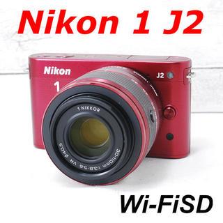 Nikon - ❤️希少レッドカラー❤️小型・軽量❤️Nikon J2