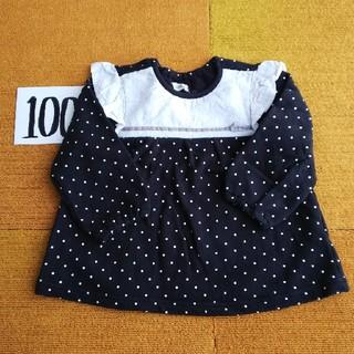 ビケット(Biquette)のBiquette 100  肩フリル薄手トレーナー(Tシャツ/カットソー)