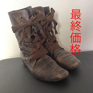 ワノナノ(WANONANO)のwanonano レザーブーツ Dr.マーチン風(ブーツ)