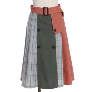 axes femme - 配色トレンチスカート