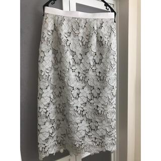 JUSGLITTY - 刺繍レースタイトスカート
