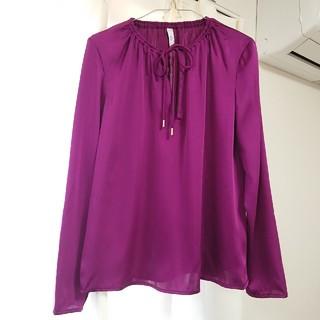 MANGO - 美品 マンゴー MANGO パープル 紫 ブラウス