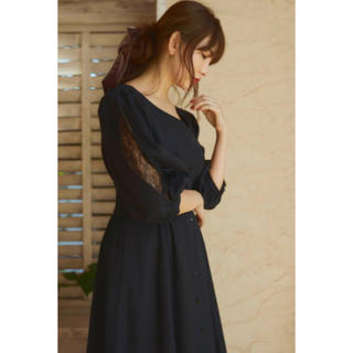 Her lip to Inner Lace Sleeve One-Piece