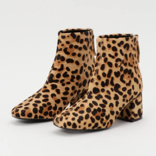 SLY - SLY LEOPARD SQUARE TOE BOOTS