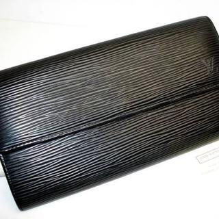 LOUIS VUITTON - ■【美品!】本物サラ!★ヴィトン 黒エピ ファスナー長財布★M63572