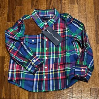 Ralph Lauren - 新品未使用!タグ付き!ラルフローレンチェックシャツ 長袖 100cm