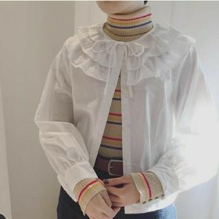 Dot&Stripes CHILDWOMAN - dot&stripes childwoman フリル 白ブラウス リボン