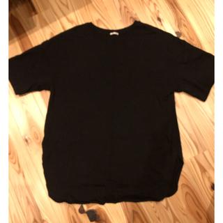 GU - GU ベビーウェイトオーバーシャツ ブラック XL