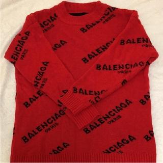 バレンシアガ(Balenciaga)のBALENCIAGA ニット 赤 ユニセックス(ニット/セーター)