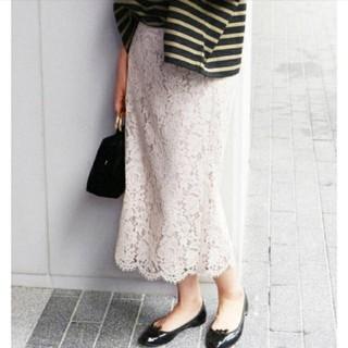 IENA - iena レースタイトスカート