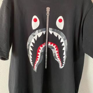 A BATHING APE - bape shark tee 19ss