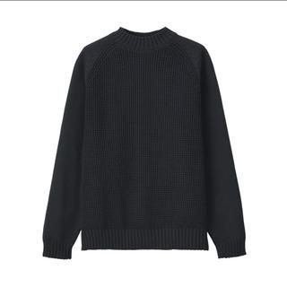 MUJI (無印良品) - MUJILaboミドルゲージクルーネックセーター L~XL・ダークグレー