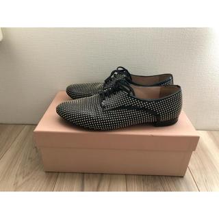 ミュウミュウ(miumiu)のミュウミュウ レースアップシューズ(ローファー/革靴)