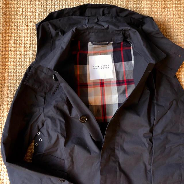 MACKINTOSH PHILOSOPHY(マッキントッシュフィロソフィー)の定価4.4万 マッキントッシュフィロソフィー フーデッドステンカラーコート メンズのジャケット/アウター(ステンカラーコート)の商品写真