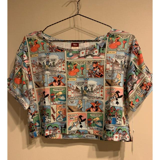 Secret Honey(シークレットハニー)のシークレットハニー ディズニー 不思議の国のアリス Tシャツ コラボ レディースのトップス(Tシャツ(半袖/袖なし))の商品写真