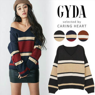 GYDA - GYDA  マルチボーダーニット  トップス