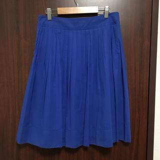 マッキントッシュフィロソフィー(MACKINTOSH PHILOSOPHY)のブルーひざ丈スカート(ひざ丈スカート)