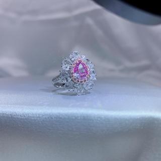 25%off値下げgia1.24ctピンクダイヤモンド指輪(リング(指輪))
