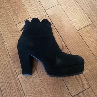 メリージェニー(merry jenny)のメリージェニー フリルブーツ 黒(ブーツ)