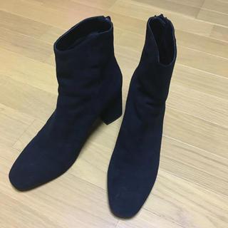 ESPERANZA - エスペランサ ブラック スエード ショート ブーツ