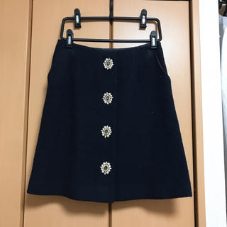 31 Sons de mode - ビジューボタン台形スカート♡ネイビー