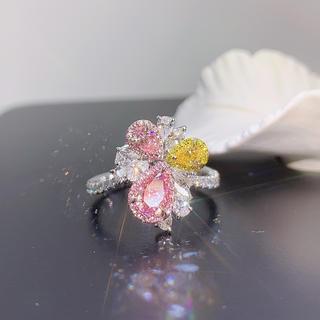 GIAメインライトピンク特殊デザイン指輪(リング(指輪))