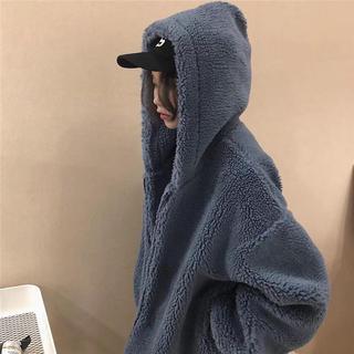 ザラ(ZARA)のレディース 韓国風モコモコジャケット (ブルゾン)