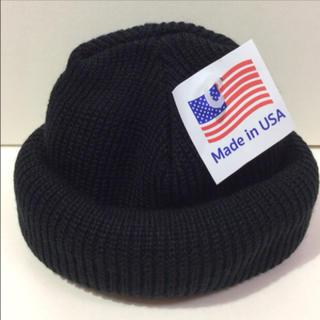 ロスコ(ROTHCO)のROTHCO knitcap BLACK ニット帽 黒 アクリルニット帽(ニット帽/ビーニー)