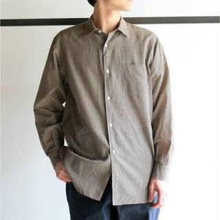 COMOLI - comoli silk cotton dot shirts サイズ2