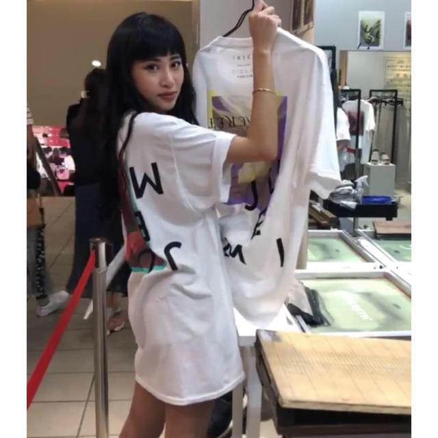 JUEMI  4月ラフォーレ限定イベントシルクスクリーンTシャツ レディースのトップス(Tシャツ(半袖/袖なし))の商品写真