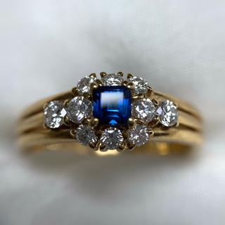 POLA k18  サファイア  ダイヤモンド 指輪(リング(指輪))