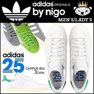 アディダス(adidas)の【NIGOコラボ】 アディダス オリジナルス キャンパス 80s  緑(スニーカー)