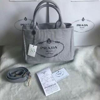 PRADA - プラダ 2way カナパ トートバッグ グレー