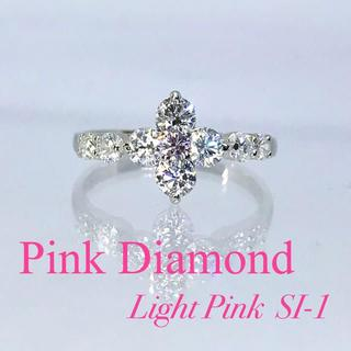 新品【ピンクダイヤ】照り抜群!高品質ダイヤ 約1カラット プラチナ製リング(リング(指輪))