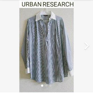 URBAN RESEARCH - URBAN RESEARCH ゆったりストライプシャツ