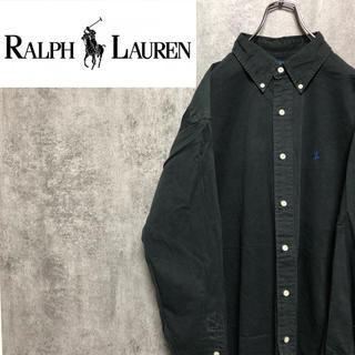 Ralph Lauren - 【激レア】ラルフローレン☆ワンポイント刺繍ロゴボタンダウンチノシャツ 90s