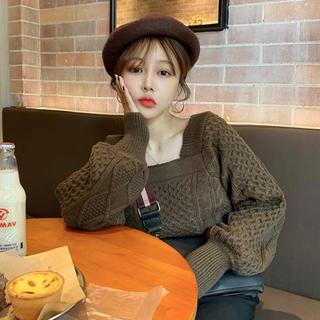 dholic - 新品未着用♡デザイン感 ニットセーター♡韓国ファッション