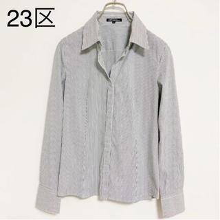 23区 - 美品☆23区 ストライプシャツ 40 11号