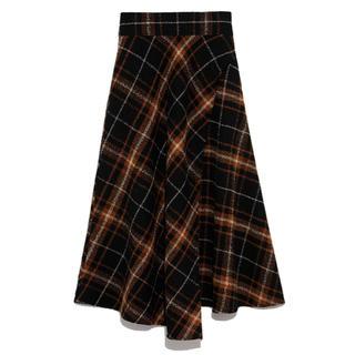 Mila Owen - 正規品 タグ付新品 大柄チェックフレアスカート