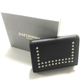J&M DAVIDSON - 正規品 J&M Davidson 三つ折り財布 スタッズ ブラック
