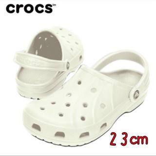 クロックス(crocs)の新品 23㎝ クロックス フィート ホワイト(サンダル)