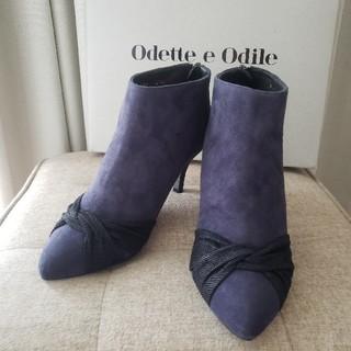 Odette e Odile - ショートブーツ ダークブルー 紺色 22.5㎝
