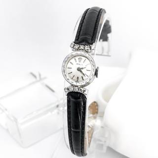 ロレックス(ROLEX)の【OH済/ベルト2種】ロレックス カットガラス K14 ダイヤ レディース腕時計(腕時計)