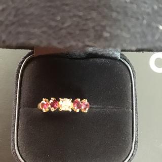 K18ルビーダイヤモンドリング(リング(指輪))